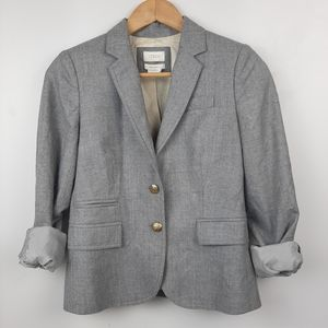 J. Crew Schoolboy Wool Blazer Light Grey Size 0